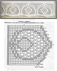 MIRIA CROCHÊS E PINTURAS: BARRADOS DE CROCHÊ COM GRÁFICOS N° 293