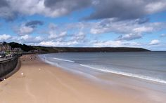 "Filey Beach, North Yorkshire \ site of Tolkien family holiday, Sept. 1925, which inspired Tolkien's children's book ""Roverandom"""