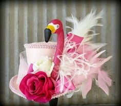 Heinous Hats - Not Just for Lawns Anymore Flamingo Top, Pink Flamingo Party, Pink Flamingos, Mad Hatter Party, Mad Hatter Tea, Mad Hatters, Silly Hats, Crazy Hats, Flamingo Costume