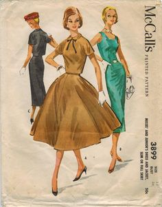 1950s McCall's 3899 Vintage Sewing Pattern by midvalecottage