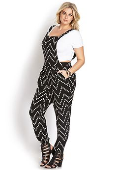 Pixilated Geo Jumpsuit | FOREVER21 PLUS - 2000064073