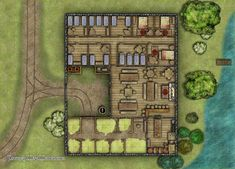 Midway Inn Battlemap - Fantasy Map Maker