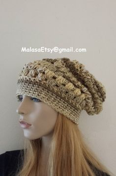 ITALY HAT Beanie Slouchy Handmade Bohemian OOAK Unique by Malasa, $33.00