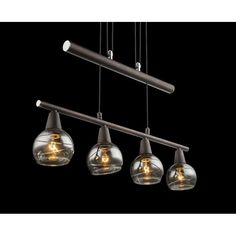 4 Light Bowl Pendant Lights Over Dining Table, Energy Consumption, Dcor Design, Amber Color, Kitchen Lighting, Light Bulb, Kitchen Island, Bronze, Ceiling Lights