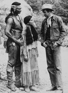 Jeff Chandler, Debra Paget & Jimmy Stewart