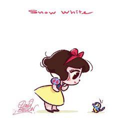 Snow White (Chibis by PrinceKido @deviantART) #SnowWhiteAndTheSevenDwarfs