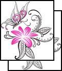flower Tattoo Design (T9F-00381)