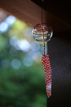 Japanese wind chime - my Japanese friends told me that the sound of the chime will make you feel cool in the summer heat!