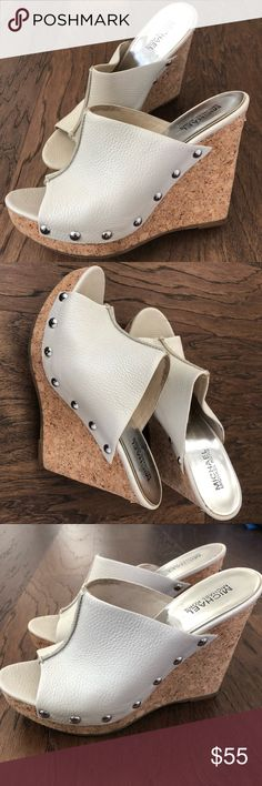 Michael Kors Slip On wedges Good condition with minor scratches Women Michael Kors Slip on. Offers are allowed 💃🏾💃🏾💃🏾 Michael Kors Shoes Wedges