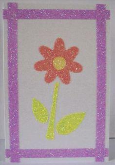 Glittery block colour flower