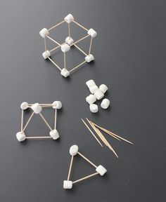 Using Math Games to Enhance Learning Geometry Activities, Preschool Activities, Toothpick Crafts, 2d And 3d Shapes, Babysitting Activities, Fun Math Games, Crafts For Kids To Make, Space Crafts, Math Classroom