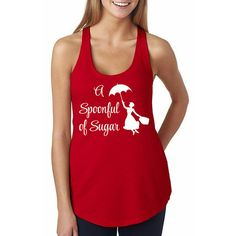 A Spoonful of Sugar Mary Poppins Tank // Mary Poppins by HimAndGem