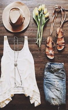 This tank! Love the scoop front and back and the lace detail. Maybe with my dark high waist shorts??