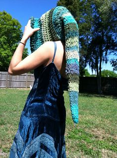 The Crochet Awards Judges' Nominee for Best Hood 2015: Long Pointed Pixie Hood pattern by Earth Tricks
