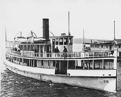 Steamship Dix sank in 1906 after crashing Steamer Jeanie. Worst maritime casualty in Puget Sound.