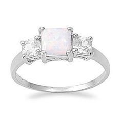 Sterling Silver White Lab Opal Cz Engagement Ring (Size 5 - 10) - Size 5 SilverCloseOut,http://www.amazon.com/dp/B0093DNRKA/ref=cm_sw_r_pi_dp_aaxHrb9E62A04A9C