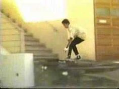 "TOMMY GUERRERO'S PART IN THE SECOND BONES BRIGADE VIDEO ""FUTURE PRIMITIVE"" RELEASED IN 1985."