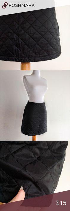 """PHARD Black Quilted Skirt Italy Phard Italy . Zipper at the back. 16"""" long. Phard Skirts Mini"""