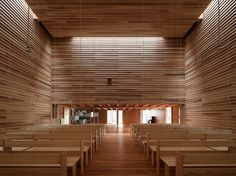 tezuka architects constructs timber church of eaves in japan
