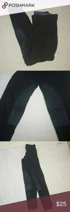 "*Equestrian Product* Charcoal Tuffrider Tights Charcoal grey Tuffrider Tights with a ""breeches look"". Mock front button. Velcro on ankles. Knee patches in good condition. The size has been worn off the label, but I believe they are a M.  Lots of schooling life left in these. Tuffrider Other"