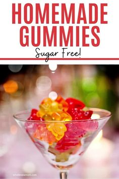 Want a healthy snack that's easy to take on the go? These Super Healthy Easy Homemade Gummies are loaded with tons of nutrition so you can feel good about serving to your kids. We make a BUNCH of batches of this Homemade Gummy Candy very time we make them because they are sure to be gone in a flash. They're sugar-free and high in protein too! Make some of these Paleo & Keto Homemade Gummies without a mold for a super easy snack! Yummy Healthy Snacks, Healthy Sugar, Healthy Meals For Kids, Healthy Treats, Sugar Free Recipes, Raw Food Recipes, Easy Recipes, Homemade Gummies, Natural Health Tips