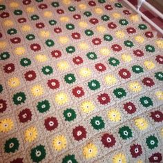 Autumn Spring Blanket Crocheted In Biscuit by Ladydarinefinecrafts