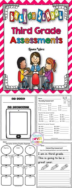 Third Grade Back to School Assessments