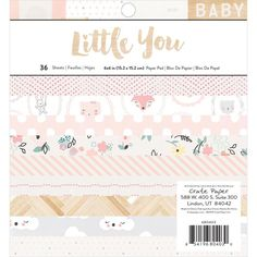 "Crate Paper Little You Girl 6""x6"" Paper Pad 36 Sheets 680403 in 