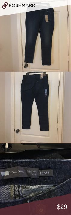 Demi curve Levi's jeans Modern skinny dark denim jeans by Levi's Levi's Jeans Skinny