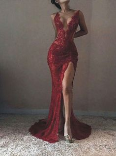 Mermaid Wine Red Lace Evening Dress,Sexy Slit Lace Prom Dress,High Quality French Lace Graduation Dress Green Things green color quotes in the great gatsby Tight Prom Dresses, Split Prom Dresses, Mermaid Prom Dresses, Ball Dresses, Red Mermaid Wedding Dress, Lace Mermaid, Sexy Dresses, Formal Dresses, Evening Party Gowns