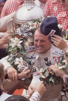 A. J. Foyt. The first 4 time winner of the Indy 500. 1977