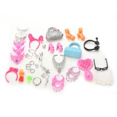 $4.2 - Awesome New Fashion Jewelry Necklace Earring Bowknot Crown Accessory For Barbie Dolls Kids Gift Hot Doll Accessories - Buy it Now!