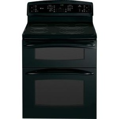 6.6 cu. ft. Double Oven Electric Range with Self-Cleaning Convection Oven in Black-PB978DTBB at The Home Depot
