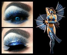 Kitana inspired look from Mortal Kombat