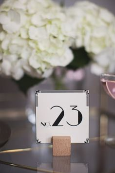 This Set of 12 Art Deco Table Number Cards would dress up any wedding, event or party table. This set of cards is numbered (13-24) on the front of the card. Printed on: Classic Crest 110 lb. smooth cover, color natural white  Measures: 3 x 3    *Numbers (1-12) sold in another set.