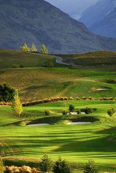 The Hills Golf Course near Arrowtown, home of the NZ Open. #GolfCourseOfTheDay I Rock Bottom Golf #rockbottomgolf