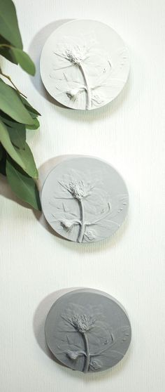 Nursery wall art decor set of 2 rose botanical bas reliefs by DinaArtDecor. Wall hanging plaster cast tiles in neutral tones for rustic living room decor. The botanical panel is ideal for decorating the entrance hall, living room, kitchen, bedroom or baby room. You can combine several bas-reliefs into one composition #countryhouse #homedecorating #kitchenwalldecor