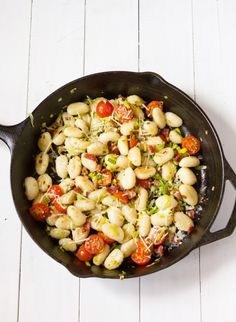 Tried and True: Pan-Toasted Gnocchi with Bacon, Leeks and Fresh Tomato