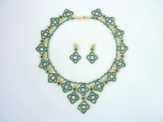 FREE beading pattern for Bugle Diamond Earrings