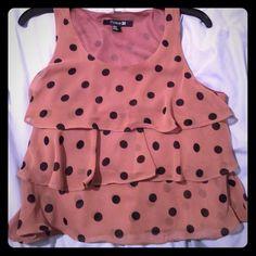 Polka dots! Great shirt American Rag Tops Blouses