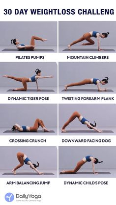 Get ready to lose weight with daily yoga! Gym Workout For Beginners, Gym Workout Tips, Yoga Poses For Beginners, At Home Workouts, Beginner Yoga Routine, Advanced Yoga Poses, Intermediate Yoga Poses, Daily Yoga Routine, Yoga For Toning