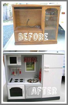 dresser Into TV Stands zoomie kids-#dresser #Into #TV #Stands #zoomie #kids Please Click Link To Find More Reference,,, ENJOY!! Refurbished Furniture, Repurposed Furniture, Furniture Plans, Kitchen Furniture, Diy Furniture, Dresser Repurposed, Kids Play Kitchen, Mud Kitchen, Dresser Under Bed