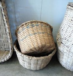 Split oak & split bamboo baskets found in south Louisiana. To be sold at Neal Auction, New Orleans, LA—Nov 17–19, 2017.