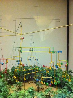 3d diagram of extended families in a village. American Museum of Natural History.