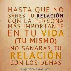 Reconcíliate contigo mismo. #citas #frases #frasesdeldia #mejoresfrases #reconciliarse #reflexiones
