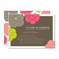 Blossoming Moment Baby Shower Invitations