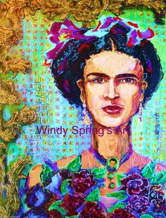Windy Spring -Frida Kahlo 12x16 Canvas Giclee Print