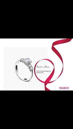 Hearts in bloom diamond ring