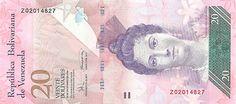 Pieza bbcv20bsf-ab01r (Anverso). Billete del Banco Central de Venezuela. 20 Bolívares Fuerte. Diseño A, Tipo B. Fecha Diciembre 19 2008. Serie Z8. Billete de reposición