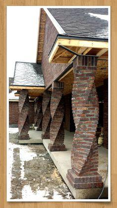 Twisted brick columns